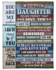 YOU ARE MY SUNSHINE - TO DAUGHTER FROM DAD Fleece Blanket tile