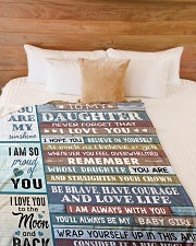 """YOU ARE MY SUNSHINE - TO DAUGHTER FROM DAD Large Fleece Blanket - 60"""" x 80"""" aos-coral-fleece-blanket-60x80-lifestyle-front-02"""