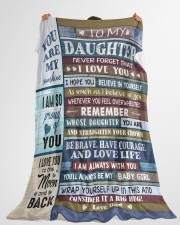 """YOU ARE MY SUNSHINE - TO DAUGHTER FROM DAD Large Fleece Blanket - 60"""" x 80"""" aos-coral-fleece-blanket-60x80-lifestyle-front-10"""