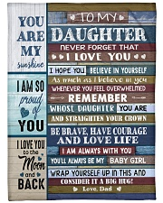 """YOU ARE MY SUNSHINE - TO DAUGHTER FROM DAD Large Fleece Blanket - 60"""" x 80"""" front"""