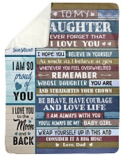 YOU ARE MY SUNSHINE - TO DAUGHTER FROM DAD Sherpa Fleece Blanket tile