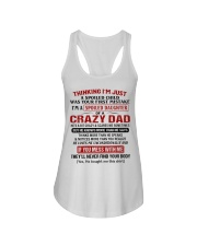 I'M A SPOILED DAUGHTER OF A CRAZY DAD Ladies Flowy Tank tile