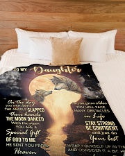 "IT A BIG HUG - AMAZING GIFT FOR DAUGHTER Large Fleece Blanket - 60"" x 80"" aos-coral-fleece-blanket-60x80-lifestyle-front-02"