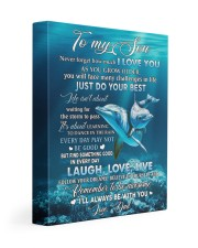 I LOVE YOU - AMAZING GIFT FOR SON 11x14 Gallery Wrapped Canvas Prints front