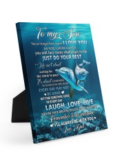 I LOVE YOU - AMAZING GIFT FOR SON Easel-Back Gallery Wrapped Canvas tile
