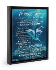 I LOVE YOU - AMAZING GIFT FOR SON Floating Framed Canvas Prints Black tile