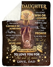 "YOU WILL NEVER LOSE - LOVELY GIFT FOR DAUGHTER Large Sherpa Fleece Blanket - 60"" x 80"" thumbnail"