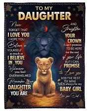 I LOVE YOU - AMAZING GIFT FOR DAUGHTER Fleece Blanket tile