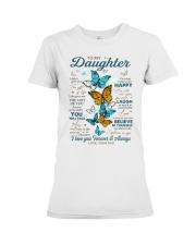 BELIEVE IN YOURSELF - DAD TO DAUGHTER Premium Fit Ladies Tee tile