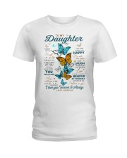 BELIEVE IN YOURSELF - DAD TO DAUGHTER Ladies T-Shirt tile