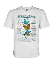 BELIEVE IN YOURSELF - DAD TO DAUGHTER V-Neck T-Shirt tile