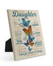 BELIEVE IN YOURSELF - DAD TO DAUGHTER Easel-Back Gallery Wrapped Canvas tile