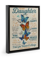 BELIEVE IN YOURSELF - DAD TO DAUGHTER Floating Framed Canvas Prints Black tile