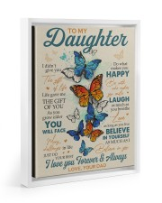 BELIEVE IN YOURSELF - DAD TO DAUGHTER Floating Framed Canvas Prints White tile