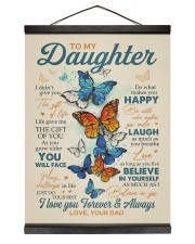 BELIEVE IN YOURSELF - DAD TO DAUGHTER Hanging Canvas tile