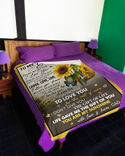 """YOU ARE MY SUNSHINE - GREAT GIFT FOR DAUGHTER Large Fleece Blanket - 60"""" x 80"""" aos-coral-fleece-blanket-60x80-lifestyle-front-01"""