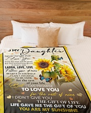 """YOU ARE MY SUNSHINE - GREAT GIFT FOR DAUGHTER Large Fleece Blanket - 60"""" x 80"""" aos-coral-fleece-blanket-60x80-lifestyle-front-02"""