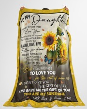 """YOU ARE MY SUNSHINE - GREAT GIFT FOR DAUGHTER Large Fleece Blanket - 60"""" x 80"""" aos-coral-fleece-blanket-60x80-lifestyle-front-10"""