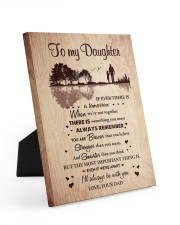 THE MOST IMPORTANT THING - BEST GIFT FOR DAUGHTER 8x10 Easel-Back Gallery Wrapped Canvas thumbnail