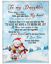 "I'LL STAY THERE FOREVER - BEST GIFT FOR DAUGHTER Large Fleece Blanket - 60"" x 80"" front"
