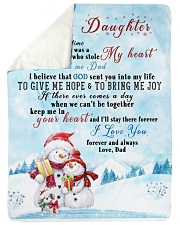 "I'LL STAY THERE FOREVER - BEST GIFT FOR DAUGHTER Large Sherpa Fleece Blanket - 60"" x 80"" thumbnail"