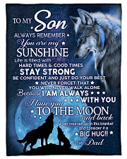 YOU ARE MY SUNSHINE - TO SON FROM DAD Fleece Blanket tile
