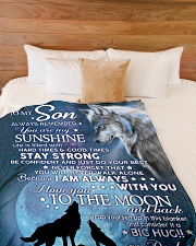 """YOU ARE MY SUNSHINE - TO SON FROM DAD Large Fleece Blanket - 60"""" x 80"""" aos-coral-fleece-blanket-60x80-lifestyle-front-02"""