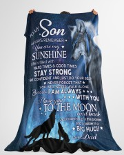 """YOU ARE MY SUNSHINE - TO SON FROM DAD Large Fleece Blanket - 60"""" x 80"""" aos-coral-fleece-blanket-60x80-lifestyle-front-10"""
