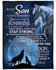 """YOU ARE MY SUNSHINE - TO SON FROM DAD Large Fleece Blanket - 60"""" x 80"""" front"""