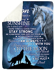 """YOU ARE MY SUNSHINE - TO SON FROM DAD Large Sherpa Fleece Blanket - 60"""" x 80"""" thumbnail"""