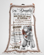 """I HELD YOU TIGHT - LOVELY GIFT FOR DAUGHTER Large Fleece Blanket - 60"""" x 80"""" aos-coral-fleece-blanket-60x80-lifestyle-front-10"""