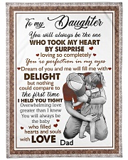 """I HELD YOU TIGHT - LOVELY GIFT FOR DAUGHTER Large Fleece Blanket - 60"""" x 80"""" front"""