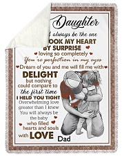 """I HELD YOU TIGHT - LOVELY GIFT FOR DAUGHTER Large Sherpa Fleece Blanket - 60"""" x 80"""" thumbnail"""