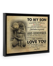 JUST BELIEVE IN YOURSELF - GREAT GIFT FOR SON Floating Framed Canvas Prints Black tile