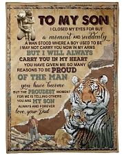 """IN MY HEART - GREAT GIFT FOR SON Large Fleece Blanket - 60"""" x 80"""" front"""
