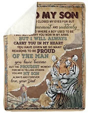 """IN MY HEART - GREAT GIFT FOR SON Large Sherpa Fleece Blanket - 60"""" x 80"""" thumbnail"""