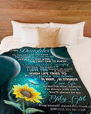 "YOU WILL ALWAYS BE MY BABY GIRL Large Fleece Blanket - 60"" x 80"" aos-coral-fleece-blanket-60x80-lifestyle-front-02"