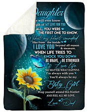 "YOU WILL ALWAYS BE MY BABY GIRL Large Sherpa Fleece Blanket - 60"" x 80"" thumbnail"