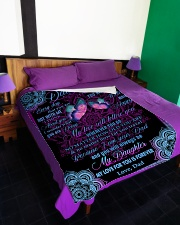 """MY LOVE WILL FOLLOW YOU Large Fleece Blanket - 60"""" x 80"""" aos-coral-fleece-blanket-60x80-lifestyle-front-01"""