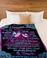"""MY LOVE WILL FOLLOW YOU Large Fleece Blanket - 60"""" x 80"""" aos-coral-fleece-blanket-60x80-lifestyle-front-02"""