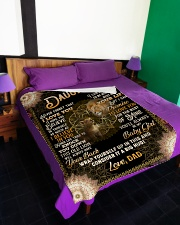"""NEVER FORGET THAT I LOVE YOU Large Fleece Blanket - 60"""" x 80"""" aos-coral-fleece-blanket-60x80-lifestyle-front-01"""