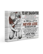 IN YOUR HEART - SPECIAL GIFT FOR DAUGHTER 14x11 Gallery Wrapped Canvas Prints front