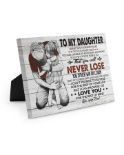 IN YOUR HEART - SPECIAL GIFT FOR DAUGHTER 10x8 Easel-Back Gallery Wrapped Canvas thumbnail