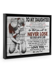 IN YOUR HEART - SPECIAL GIFT FOR DAUGHTER 14x11 Black Floating Framed Canvas Prints thumbnail