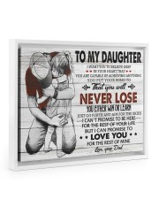 IN YOUR HEART - SPECIAL GIFT FOR DAUGHTER 14x11 White Floating Framed Canvas Prints thumbnail