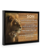 BELIEVE IN YOURSELF - LOVELY GIFT FOR SON 14x11 Black Floating Framed Canvas Prints thumbnail