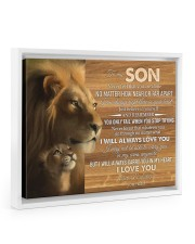 BELIEVE IN YOURSELF - LOVELY GIFT FOR SON 14x11 White Floating Framed Canvas Prints thumbnail