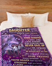 """NEVER GIVE UP - LOVELY GIFT FOR DAUGHTER Large Fleece Blanket - 60"""" x 80"""" aos-coral-fleece-blanket-60x80-lifestyle-front-02"""