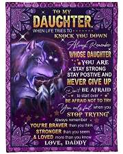 """NEVER GIVE UP - LOVELY GIFT FOR DAUGHTER Large Fleece Blanket - 60"""" x 80"""" front"""