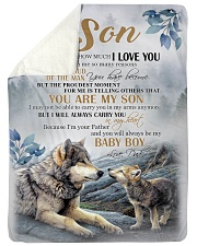 """BABY BOY - WONDERFUL GIFT FROM DAD TO SON Large Sherpa Fleece Blanket - 60"""" x 80"""" thumbnail"""